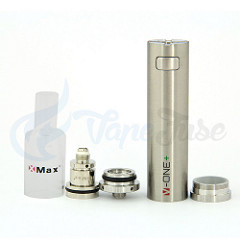 X Max V-One Plus Concentrate Vaporizer with mouthpiece, atomizer and base off with silicone insert