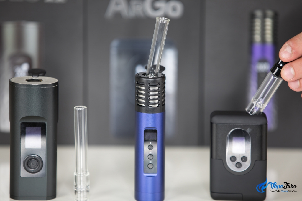New Arizer Portable Vape with glass aroma tubes