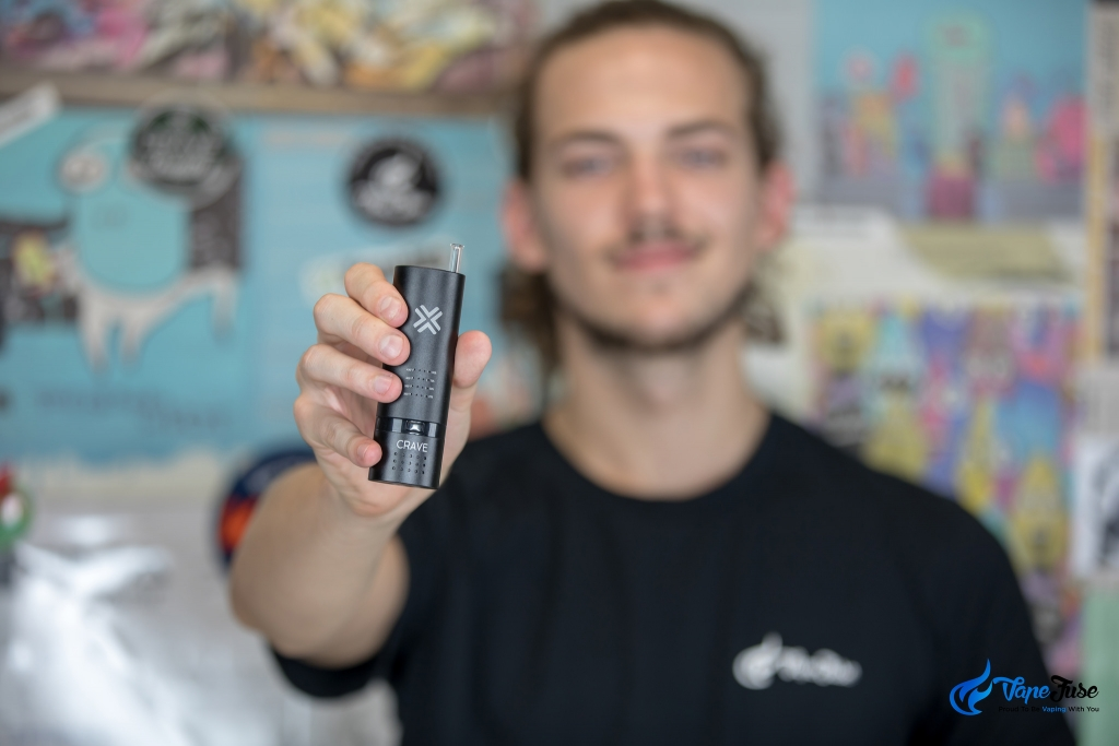 Crave Cloud Portable Vaporizer with glass mouthpiece