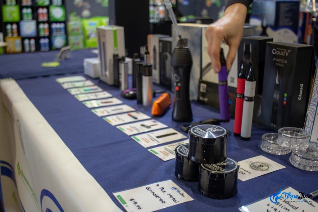 Vapes at the VapeFuse Booth - Sydney Hemp Health & Innovation Expo2018
