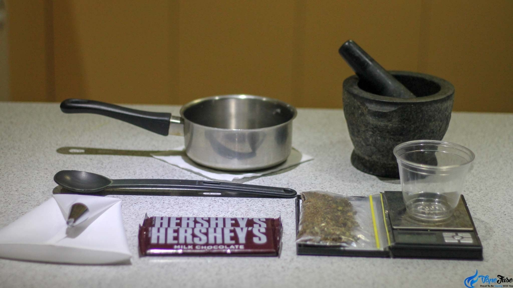 Cannabis-infused chocolate