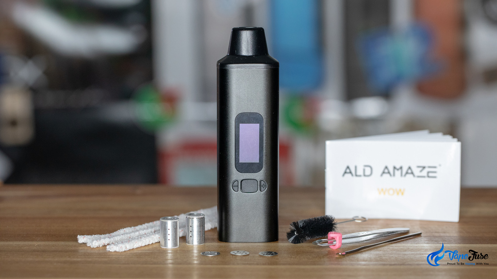 ALD Amaze WOW V2 portable vaporizer inclusions