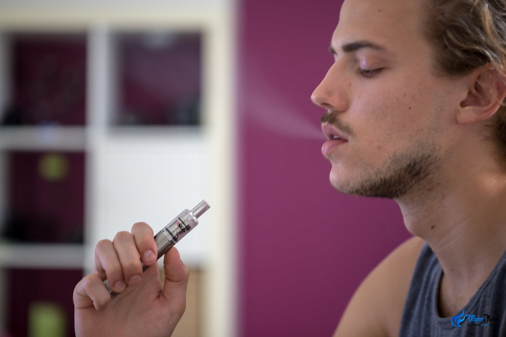 Matt using a vaporizer