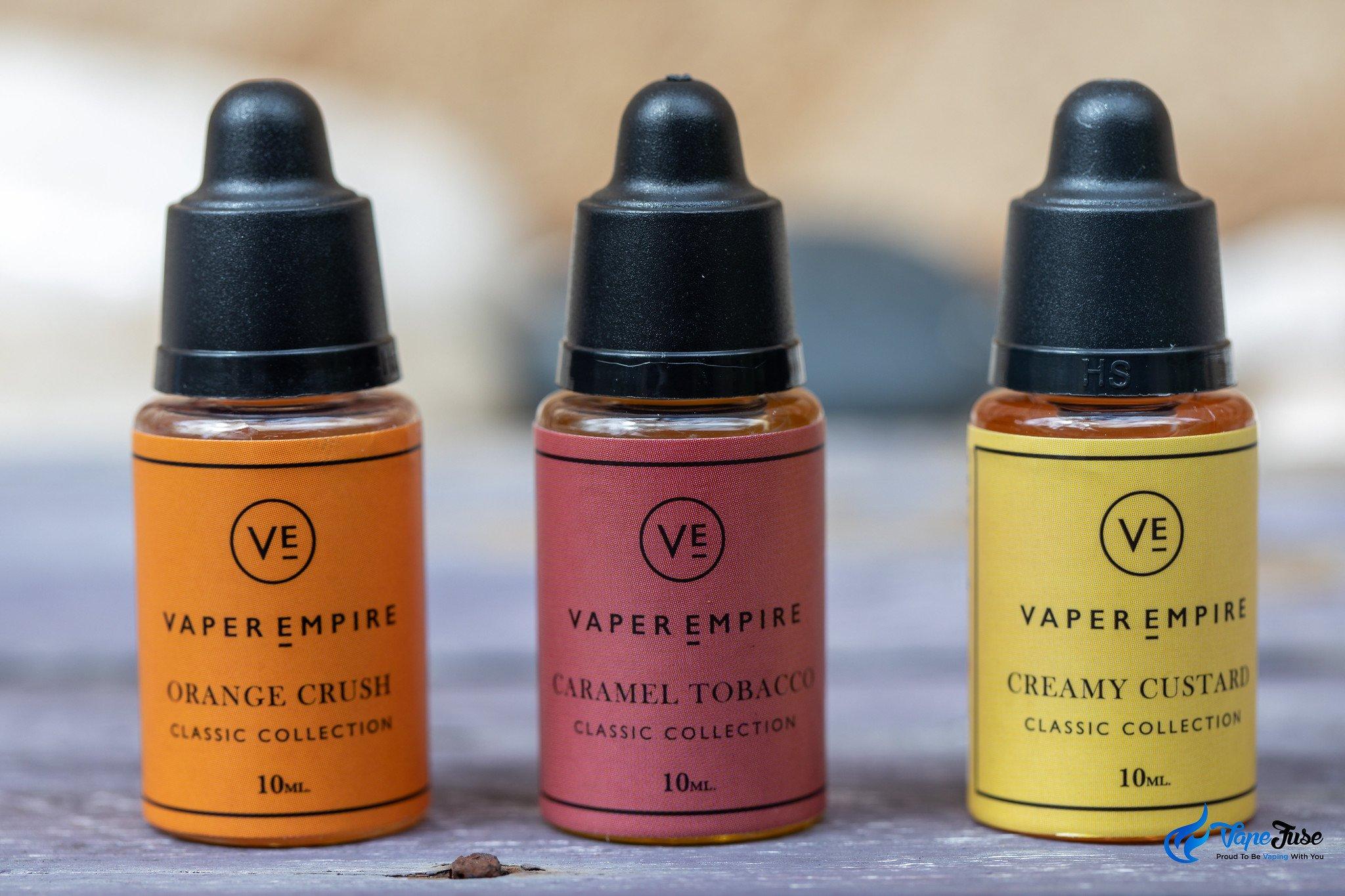 Vaper Empire Classic Collection e-Liquids Review